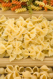 Raw pasta and spaghetti Royalty Free Stock Photo