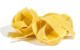 Raw pasta  on white Stock Photos