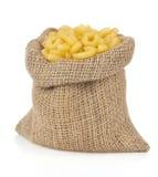 Raw pasta on white Royalty Free Stock Photos