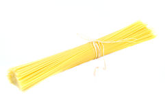 Raw pasta on white background Stock Photo