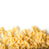 Raw pasta on white background Royalty Free Stock Photography