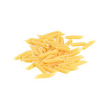 Raw pasta on a white background. Pasta raw feathers on a white background stock images
