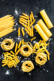 Raw pastas Royalty Free Stock Images