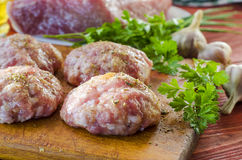 Raw patties from ground beef Royalty Free Stock Photography