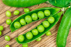 Raw pea Stock Photo