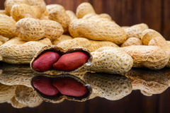 Raw peanuts or arachis Stock Images