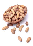 Raw peanuts. With bright white backgrounds Royalty Free Stock Photos