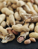 Raw peanuts. Royalty Free Stock Photo