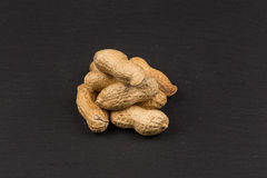 Raw peanuts shells Royalty Free Stock Images