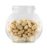 Raw peanuts in small tare Stock Image