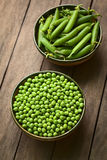 Raw Peas and Peapods Stock Photography