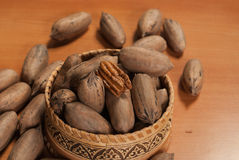 Raw pecan Royalty Free Stock Images