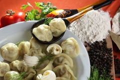 Raw pelmeni Royalty Free Stock Photography