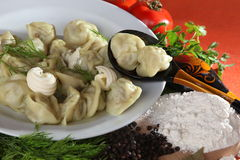 Raw pelmeni Royalty Free Stock Image