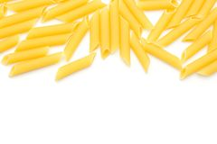Raw penne isolated Royalty Free Stock Images