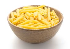 Raw penne isolated Stock Images