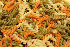 Raw penne macaroni  texture food background. Royalty Free Stock Image