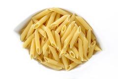 Raw penne macaroni Royalty Free Stock Photos