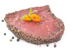 Raw Pepper Steak Stock Photos