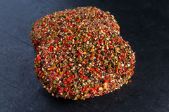 Raw peppered ground beef meat cutlets for burgers Royalty Free Stock Photography
