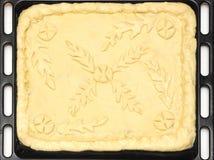 Raw pie dough crust Stock Photography