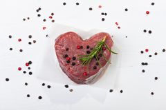 Raw piece of beef Stock Photography