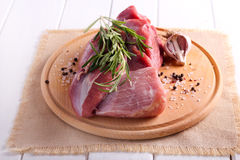 Raw piece of beef Royalty Free Stock Photo