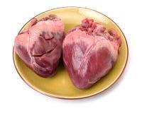 Raw pig heart Stock Photo