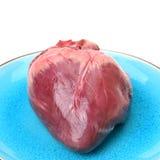 Raw pig heart Stock Image