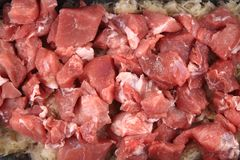 Raw pig meat Royalty Free Stock Photo
