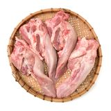 Raw Pigs  tongues. Isolated on a white background Stock Images