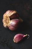 Raw pink garlic Royalty Free Stock Images