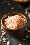 Raw Pink Himalayan Sea Salt Stock Photo
