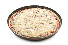 Raw pizza Royalty Free Stock Photo