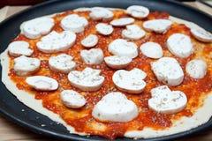Raw pizza Royalty Free Stock Photography