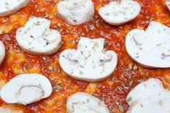 Raw pizza Royalty Free Stock Photo