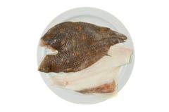 Raw plaice fillets Royalty Free Stock Photos
