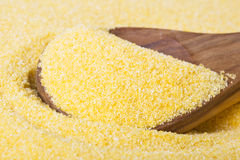 Raw Polenta Close Up Royalty Free Stock Images