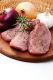 Raw pork Stock Photography