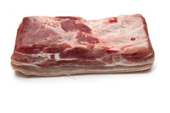 Raw Pork Belly meat Stock Photography