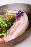 Raw pork belly meat Stock Photo