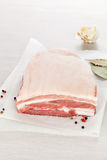 Raw pork belly portion. Stock Image
