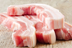 Raw pork belly Royalty Free Stock Images