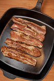 Raw Pork Belly Strips Stock Photography