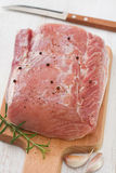 Raw pork with black pepper Royalty Free Stock Photography