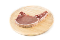 Raw pork chop for cooking isolated white background. Raw pork chop for cooking isolated background Stock Image