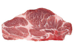 Raw pork chop cutlet isolated Royalty Free Stock Photo