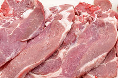 Raw pork chops. (detail Stock Image