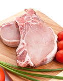Raw Pork Chops Stock Image