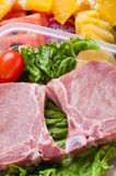 Raw pork chops Stock Photography